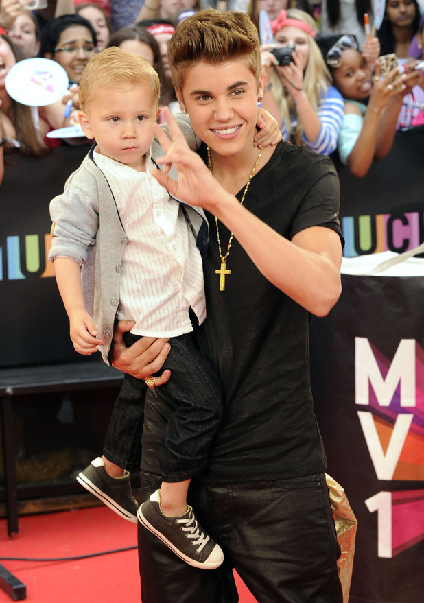 Jaxon Bieber and Justin Bieber