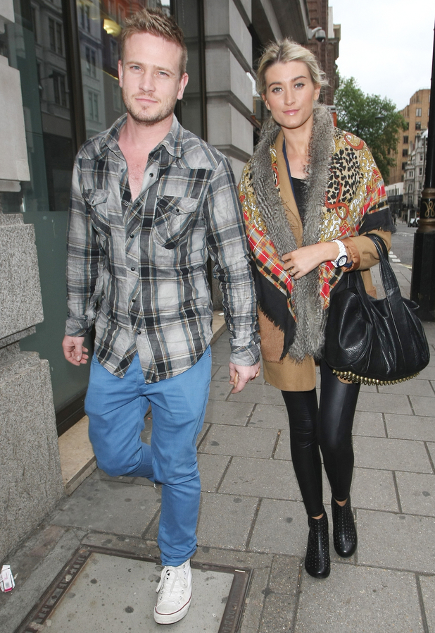 Matthew Wolfenden and Charley Webb out and about in Mayfair.