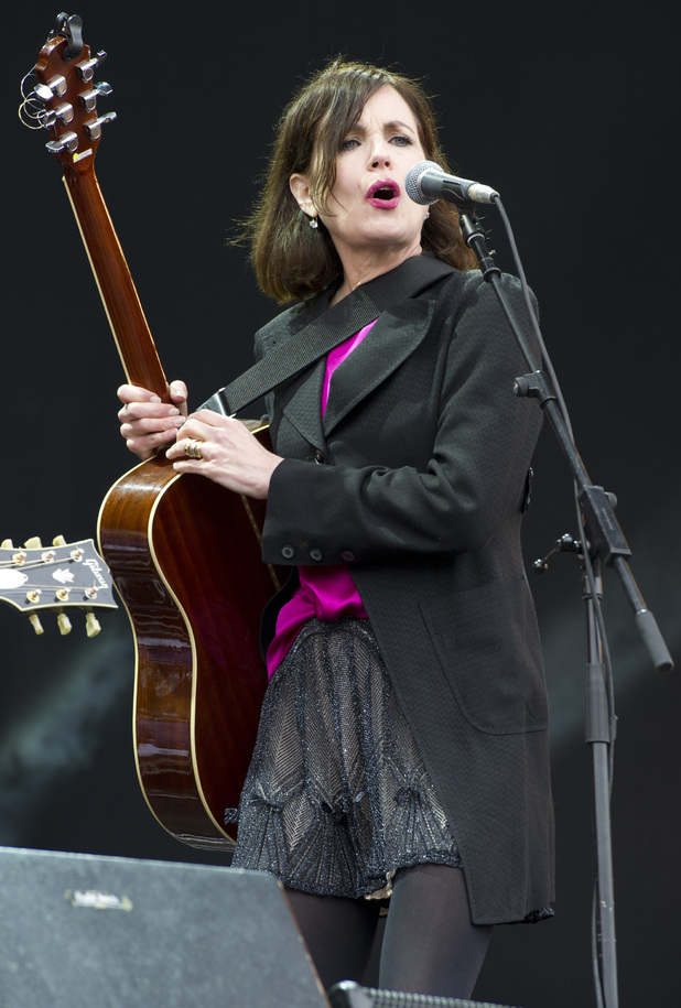 Elizabeth McGovern performs at the Isle of Wight Festival.