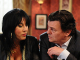Kat Moon and Derek Branning in EastEnders