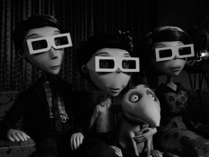 Frankenweenie, Mr Frankenstein, Victor, Sparky, Mrs Frankenstein