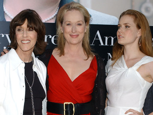Nora Ephron with Meryl Streep and Amy Adams