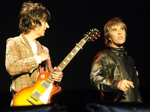 The Stone Roses perform live at Heaton Park: John Squire & Ian Brown.