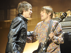 The Stone Roses perform live at Heaton Park: Mani & Ian Brown.