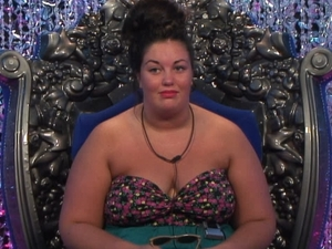 Big Brother Day 26: Becky in the diary room.