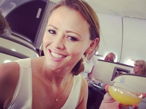 Kimberly Walsh on her way to Vegas