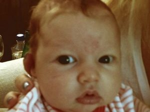 Jessica Simpson posted this picture of her baby on twitter