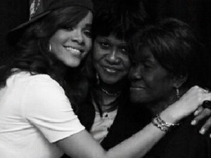 Rihanna and her late Grandmother