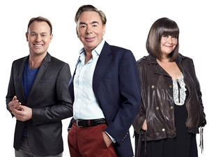 Superstar judges Jason Donovan, Lord Andrew Lloyd Webber and Dawn French