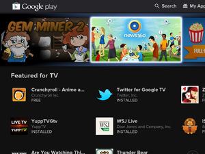 Sony Google TV: Google Play store