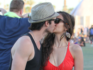 Nina Dobrev and Ian Somerhalder Celebrities at the 2012 Coachella Valley Music and Arts Festival - Week 1 Day 3 Indio, California
