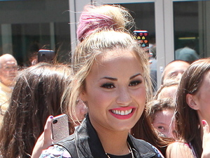 Demi Lovato The USA X Factor judges arrive for the auditions in Providence Providence, Rhode Island
