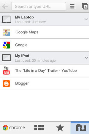 Google Chrome app for iPhone/iPad