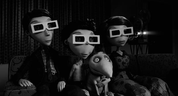 Frankenweenie, Mr Frankenstein, Victor, Sparky, Mrs Frankenstein