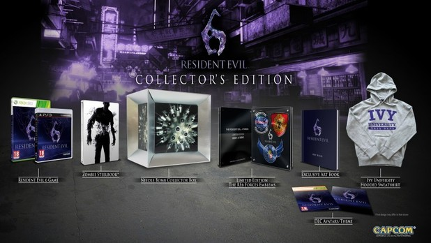 The Resident Evil 6 collector's edition pack
