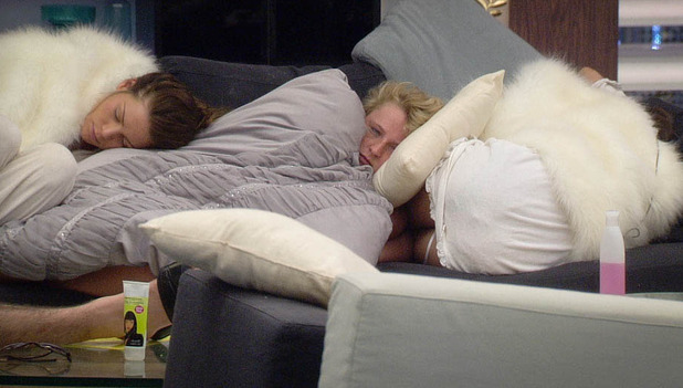 Sara, Caroline and Ashleigh sleeping through the 'snooze button'