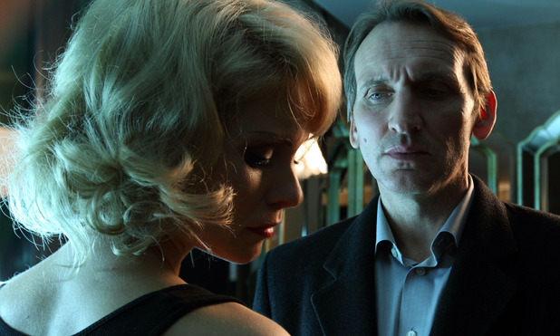 MyAnna Buring as Sylvie and Christopher Eccleston as Daniel Demoys in &#39;Blackout&#39;