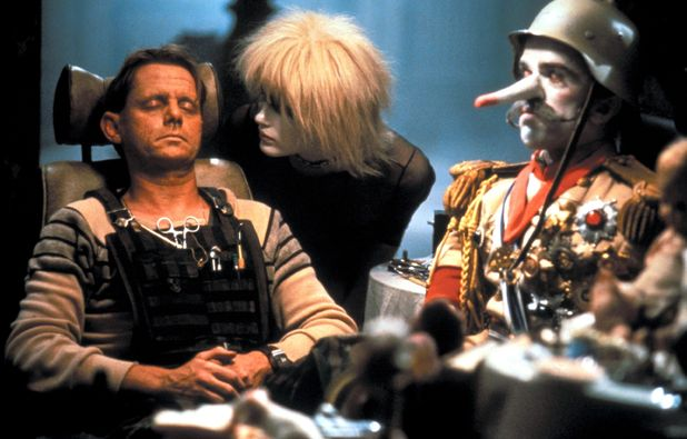 JF Sebastian (William Sanderson) with Pris (Daryl Hannah)