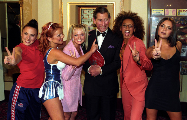 The Spice Girls and Prince Charles