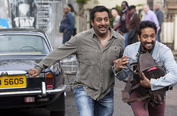 Masood and AJ escape the scene as quick as they can.