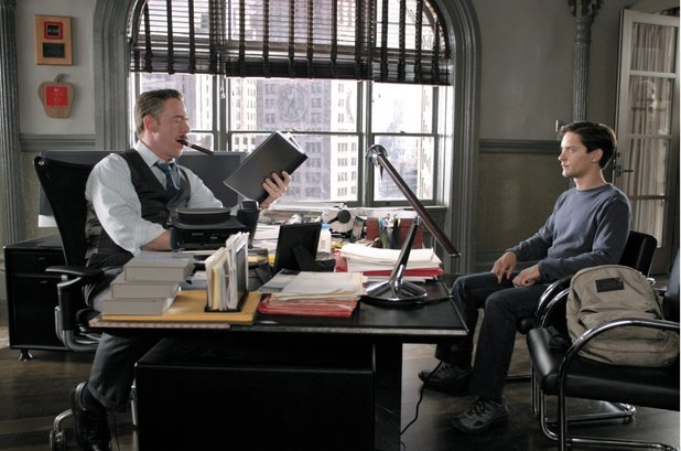 Peter sits down with his Daily Bugle boss J Jonah Jameson