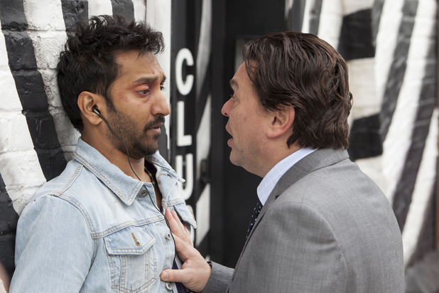 Derek Branning confronts AJ