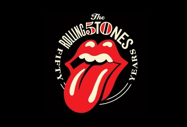 The Rolling Stones 50th anniversary logo.