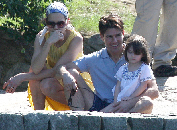 Tom Cruise and Katie Holmes on holiday in Brazil with daughter Suri in February 2009
