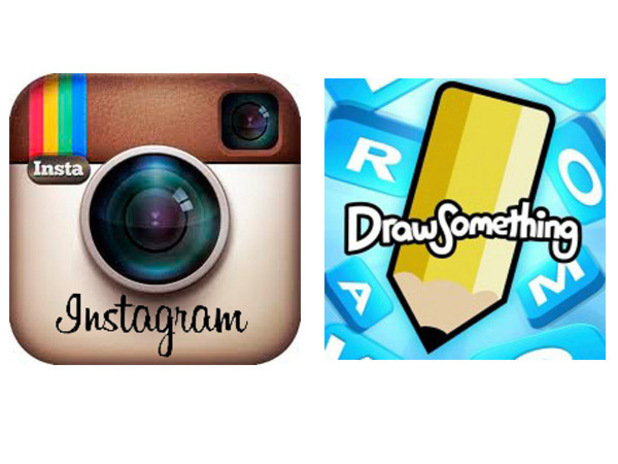 Instagram, Draw Something logos