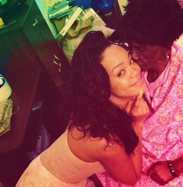 Rihanna and her late Grandmother