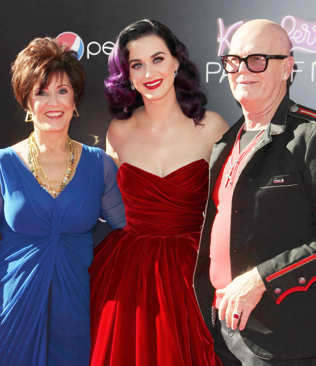 Katy Perry with parents, Keith and Mary Hudson Los Angeles premiere of 'Katy Perry : Part of Me' held at The Grauman's Chinese Theatre - Arrivals Los Angeles, California