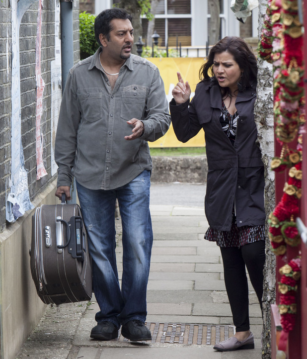 Masood hurries Zainab out of Walford and away from AJ.