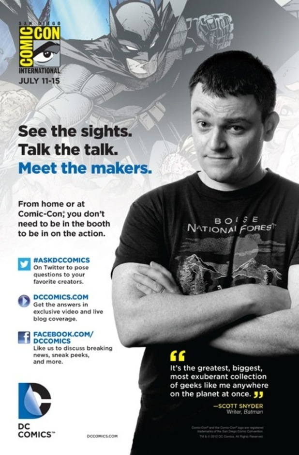 DC Comics San Diego Comic-Con ads Scott Snyder