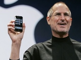 Steve Jobs introduces the new Apple iPhone during his keynote address at MacWorld Conference & Expo in a San Francisco, Jan. 9, 2007
