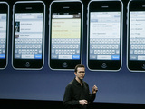 Apple Senior Vice President, iPhone Software Scott Forstall talks about email for the new iPhone OS 3.0 software at Apple headquarters in Cupertino, Calif. Tuesday, March 17, 2009