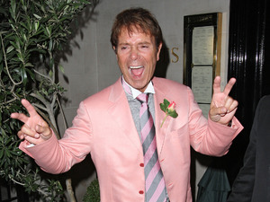 Cliff Richard leaving Scotts restaurant