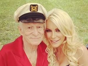 Hugh Hefner and Crystal Harris celebrate Independence Day