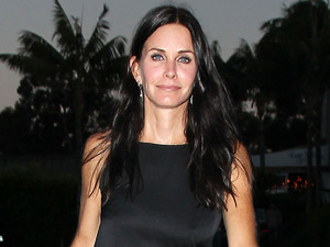 Courteney Cox out for dinner in Los Angeles.