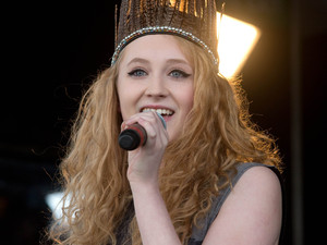 Janet Devlin on stage at the East Of England Show.