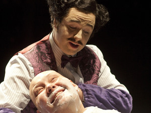 Jason Manford stars as Pirelli in Sweeney Todd