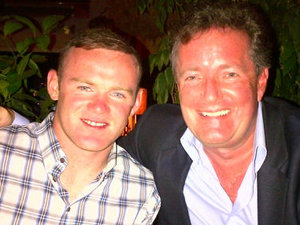 Wayne Rooney and Piers Morgan