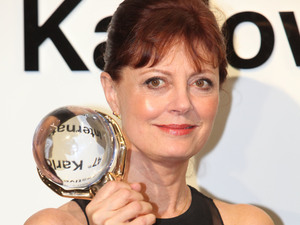 Susan Sarandon receives the lifetime achievement award at the 47th International Film Festival, Czech Republic.