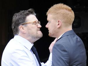 Owen and Gary fight at the Christening of Chesney and Katy&#39;s son Joseph