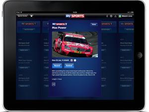 Sky Sports iPad App with split screen streaming