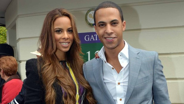 Rochelle Wiseman and Marvin Humes arrive for the big match.