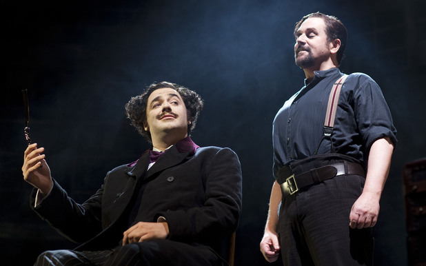 Jason Manford as Pirelli and Michael Ball as Sweeney Todd in Sweeney Todd