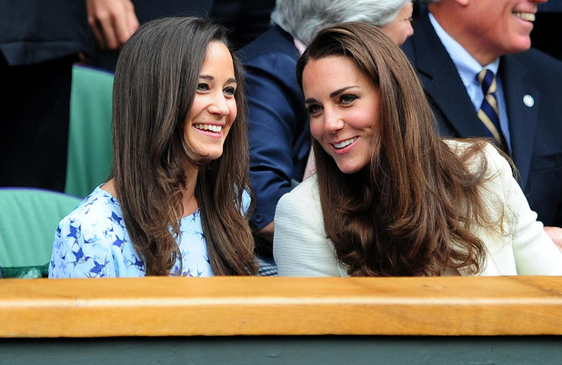 The Duchess of Cambridge and Pippa Middleton