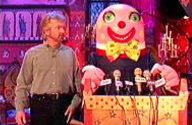 Noel Edmonds and Mr Blobby on Noel's House Party (1991)