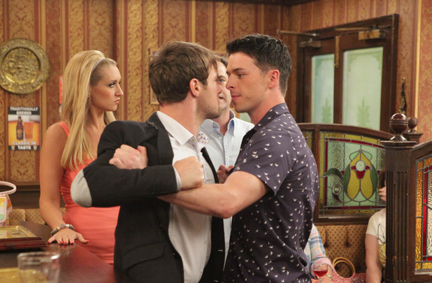 Ryan Connor picks a fight with Rob Donovan in Coronation Street
