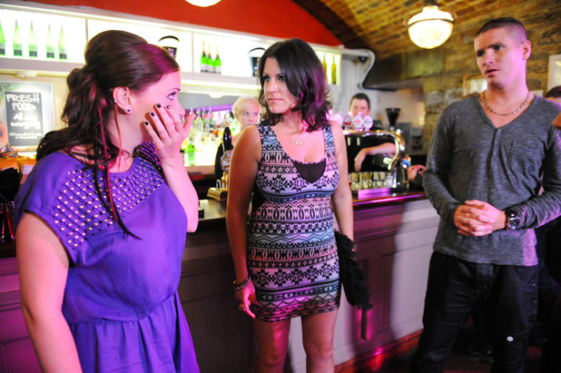 After kissing a guy on her birthday night out, Amy is stunned as she is punched by the guy's girlfriend... who turns out to be Amy's mum!
